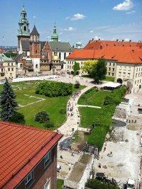 Widok z wieży na Sandomierz